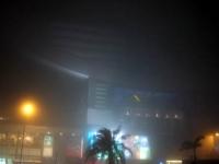 ものすごい濃霧で目の前、真っ白