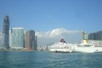 スターフェリーから見た香港島の眺めその1