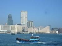 スターフェリーから見た香港島の眺めその2