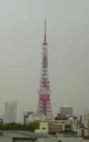 うす曇りの東京タワー