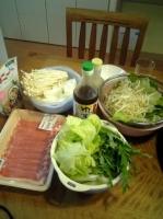 豚肉と野菜のしゃぶしゃぶ