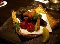 穴子と夏野菜の唐揚げ