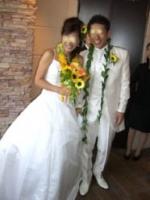 挙式直後の2人