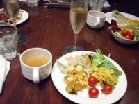 シャンパンと野菜ビュッフェ