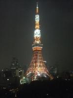 ホテルから見える東京タワー