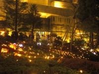 毛利庭園のライトアップその1
