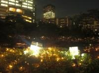 毛利庭園のライトアップその2