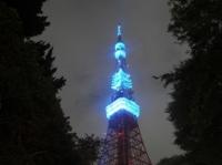 ブルーに輝く東京タワー