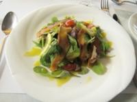 サーモンマリネと有機野菜のサラダ