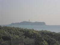 辻堂の海岸から見える江ノ島