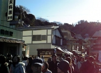 江ノ島は大混雑
