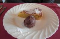 アーモンドのタルトとチョコレートジェラート