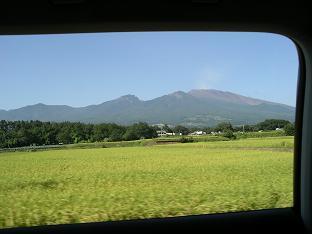 車窓から見えた浅間山