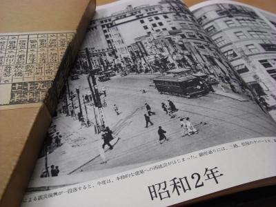 昭和2年の銀座通り