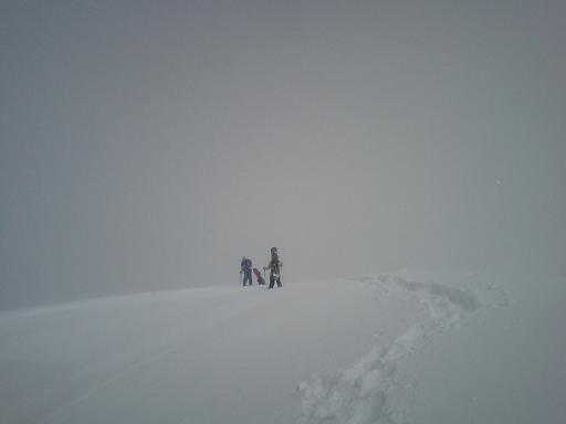 山頂1307m