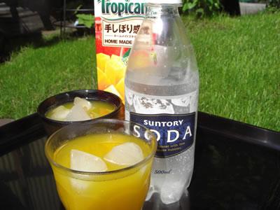 マンゴージュースのソーダ割り画像・写真