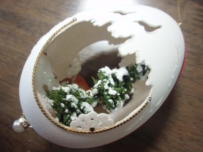 本物の卵を使った飾り01