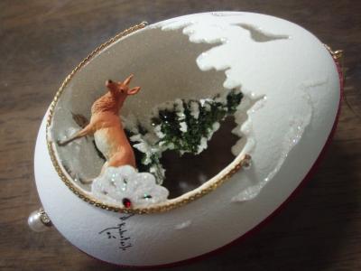 本物の卵を使った飾り02