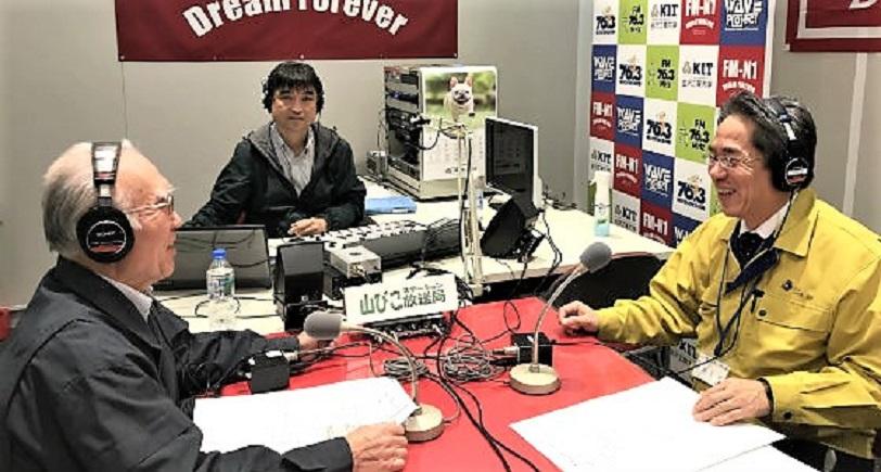 ゲストの高橋正英さんとスタジオで