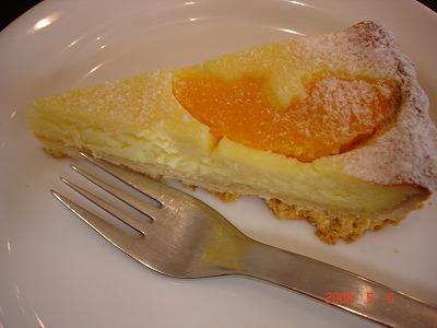 コクテル堂コーヒー オレンジチーズケーキ