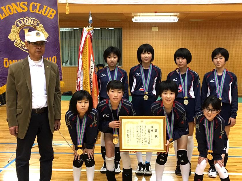 6年女子優勝 大村鈴田バレーボールクラブA