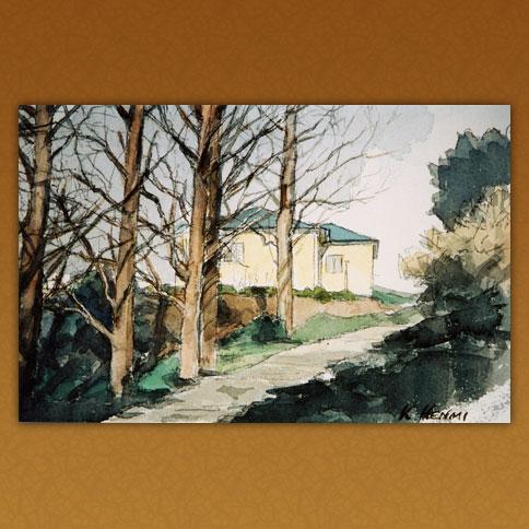 丘の上の白壁の家/三好公園