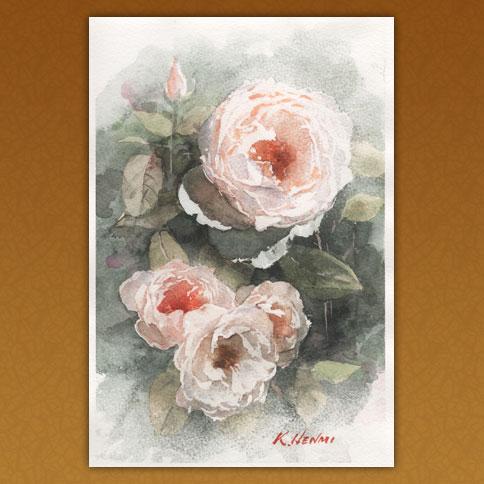 大輪の秋の薔薇