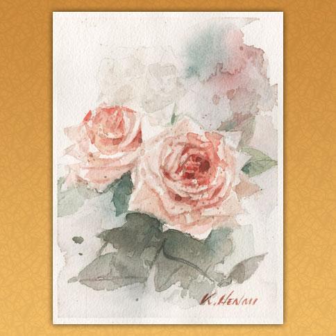 花弁のとがったピンクのばら