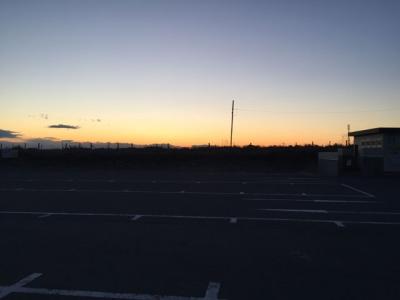 長生村の夕焼け