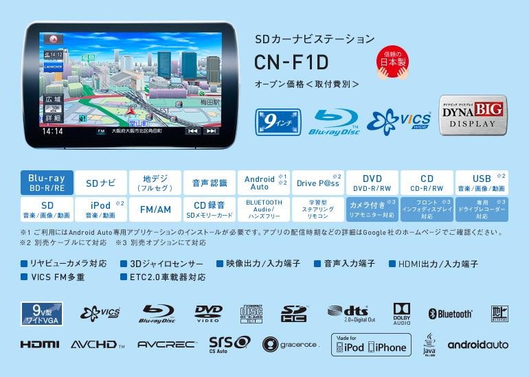 CN-F1D パナソニック ストラーダ