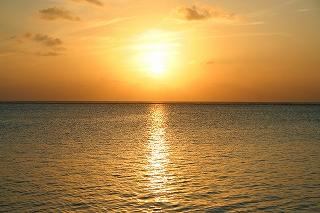 モルディブの朝焼け