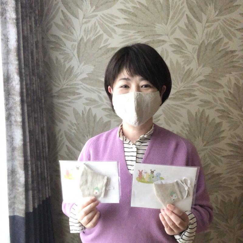 布マスク寄付
