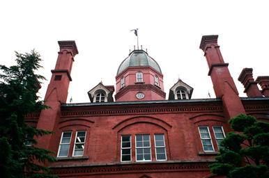 旧北海道庁の赤レンガ。