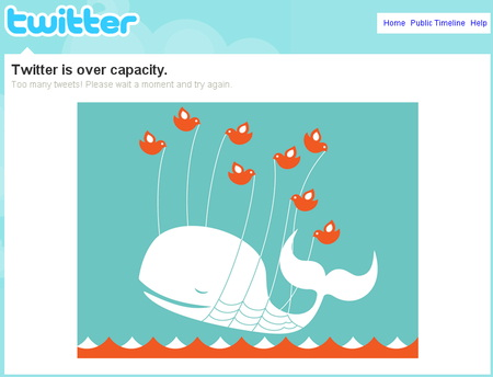 over capacity on twitter