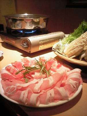 鹿児島産純粋黒豚六白 しゃぶ鍋