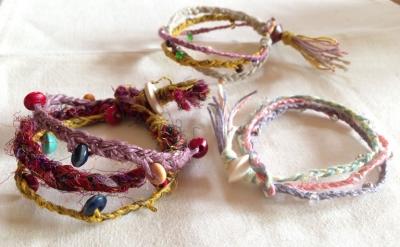 簡単三つ編み3連ブレス