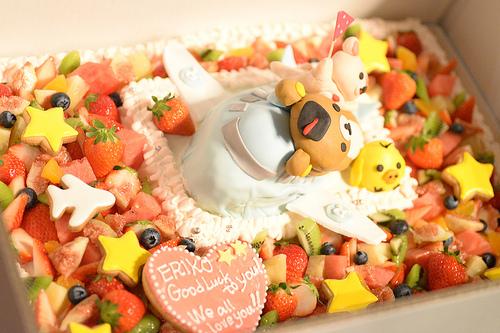 壮行会ケーキ