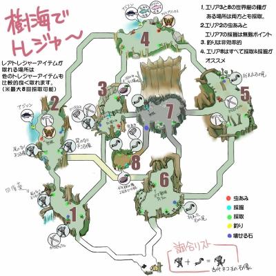 樹海トレジャー拡大地図
