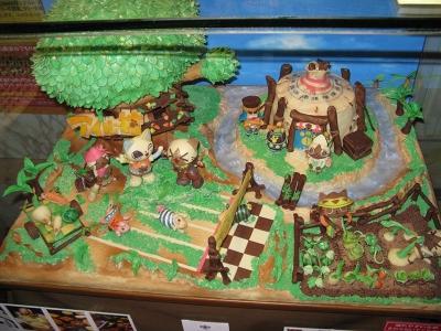チョコで出来たアイルー村