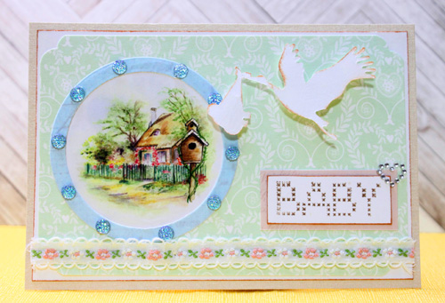Marianne Design Collectables Cutting Die /& Stamps Stork COL1381
