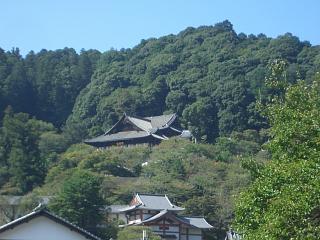 與喜天満神社参道の天神橋から見た長谷寺