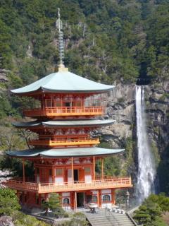 三重ノ塔と那智の滝