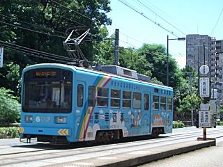 阪堺電車 住吉鳥居前停留所・モ602号電車