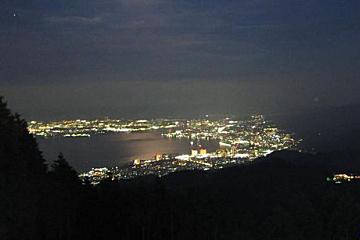夜景 比叡山〜琵琶湖