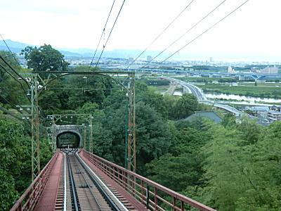 男山ケーブルからの眺め