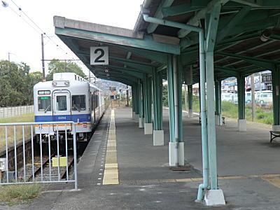 南海多奈川駅 2200系電車