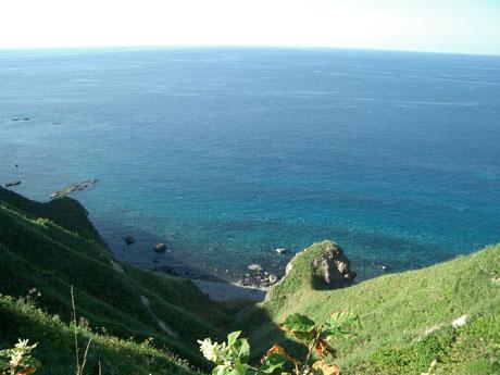 神威岬の海