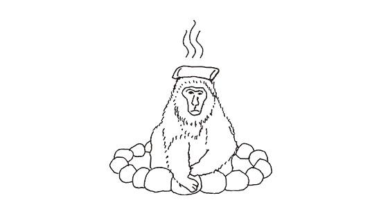 猿 イラスト monkey