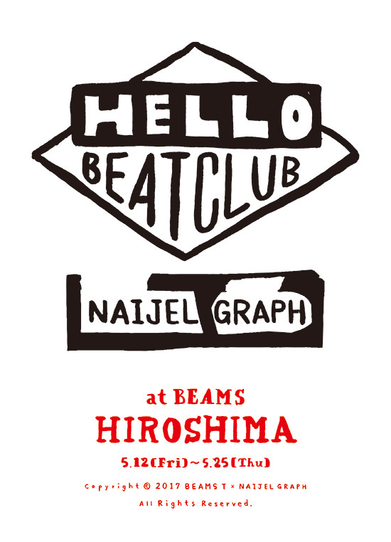beams hiroshima ビームス広島 ナイジェルグラフ naijel graph