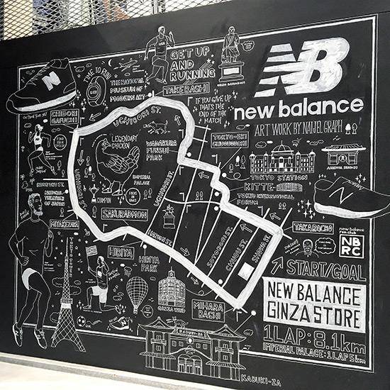 new balance ginza ニューバランス銀座 イラスト ナイジェルグラフ naijel graph illustration